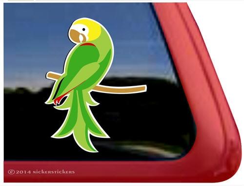 Custom Amazon Parrot Bird Decals Stickers NickerStickers - Bird window stickers amazon