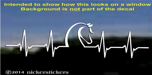 Horsebeat Heartbeat Decals  Stickers NickerStickers - Decals for trucks windows