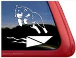 Custom Rottweiler Dock Dog Window Decal