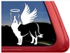 Custom Border Collie Dog Angel Car Truck RV Window Decal Sticker