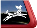 Custom Rainbow Spirit Dog Window Decal Sticker