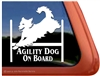 Golden Retriever Agility Dog Window Decal