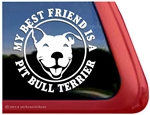 Best Friend Smiling Pit Bull Terrier Love Dog Car Truck iPad RV Window Decal Sticker