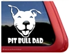 Funny Smiling Pit Bull Dad Dog Car Truck iPad RV Window Decal Sticker
