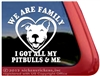 Pit Bull Family Adoption Car Truck RV Vinyl Window Decal Sticker