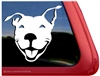 Custom Smiling Pit Bull Dog Head APBT iPad Car Truck RV Window Decal Sticker