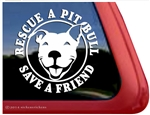 Smiling Pit Bull Rescue Terrier Love Dog Car Truck iPad RV Window Decal Sticker