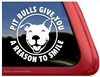 Funny Smiling Pit Bull Terrier Love Dog Car Truck iPad RV Window Decal Sticker