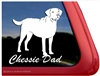 Chessie Dad Chesapeake Bay Retriever Dog iPad Car Truck RV Window Decal Sticker