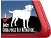 I Love My Chesapeake Bay Retriever Dog iPad Car Truck RV Window Decal Sticker