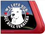 Pit Bull Terrier Love Dog Car Truck iPad RV Window Decal Sticker