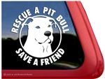 Pit Bull Terrier Rescue Dog Car Truck iPad RV Window Decal Sticker