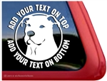 Custom Pit Bull Dog Head APBT iPad Car Truck RV Window Decal Sticker