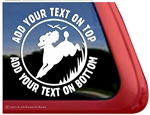 Custom Poodle Duck Hunting Gun Dog iPad Car Truck Window Decal Sticker