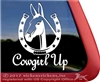 Cowgirl Up Mule Equestrian Car Truck RV Trailer Window Decal