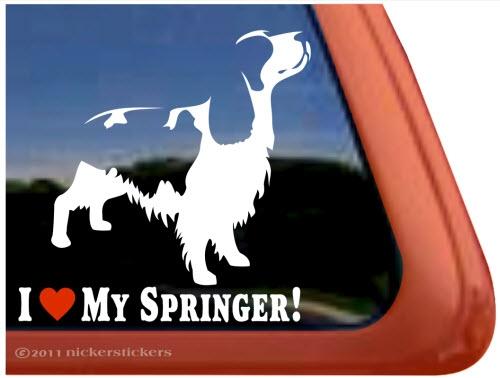 Springer Mom High Quality Vinyl Springer Spaniel Window Decal Sticker