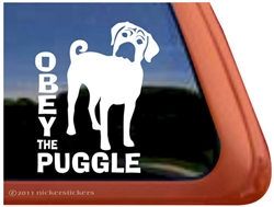 Puggle Window Decal