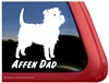 Affen Dad Affenpinscher Dog iPad Car Truck RV Window Decal Sticker
