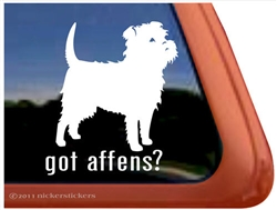 Got Affens? Affenpinscher Dog iPad Car Truck RV Window Decal Sticker