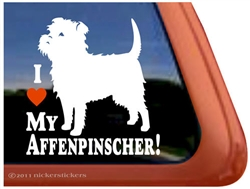 I Love My Affenpinscher Dog iPad Car Truck RV Window Decal Sticker