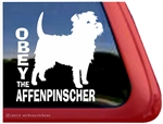 Obey the Affenpinscher Dog iPad Car Truck RV Window Decal Sticker