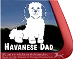 Havanese Dad Vinyl Adhesive Window Dog Decal Sticker
