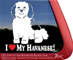 I Love My Havanese Vinyl Adhesive Window Dog Decal Sticker