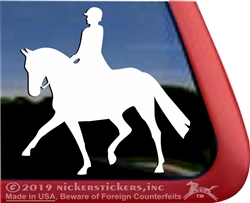 Dressage Rider Horse Trailer Window Decal
