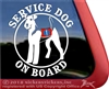 Airedale Terrier Service Dog Car Truck Window Decal Sticker