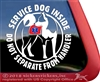 Akita Service Dog Car Truck Window Decal Sticker