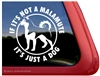 Alaskan Malamute Window Decal