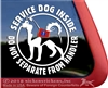 Alaskan Malamute Service Dog Window Decal