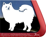 Custom American Eskimo Eskie Dog Vinyl Car Truck RV Window Decal Sticker