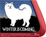 American Eskimo Dog Eskie Dog Car Truck RV Window Decal Sticker