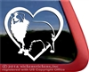 Love Aussie Heart Australian Shepherd Dog Car Truck RV Window Decal