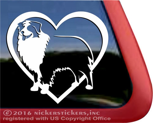 Australian shepherd dog car truck rv window decal larger photo email a friend