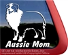 Aussie Mom Australian Shepherd Dog Car Truck RV Window Decal Sticker