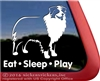 Eat Sleep Play Aussie Australian Shepherd Dog Car Truck RV Window Decal