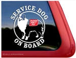 Australian Shepherd Service Dog Window Decal