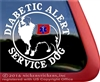 Australian Shepherd Diabetic Alert Service Dog Car Truck RV Window Decal