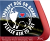 Australian Shepherd Therapy Dog Window Decal