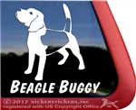 Beagle Dog Window Decal