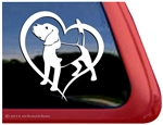 Beagle Dog in Heart Car Truck RV Window Decal Sticker