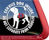 Beagle Service Dog Car Truck Window Decal Sticker