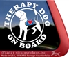 Beagle Therapy Dog Car Truck Window Decal Sticker