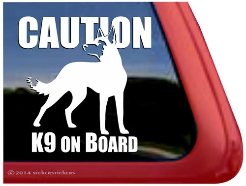 Belgian malinois guard dog car truck rv window decal sticker larger photo email a friend