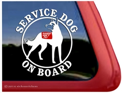Belgian Malinois  Service Dog Car Truck Window Decal Sticker