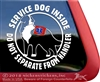 Service Dog Decal Bernese Mountain Dog Window Decal