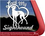 Sloughi Dog Sighthound Window Decal