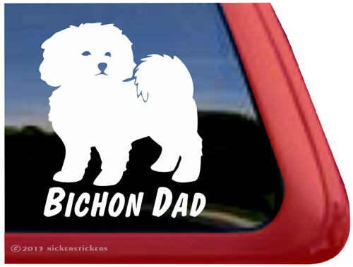 Merveilleux Bichon Frise Window Decal